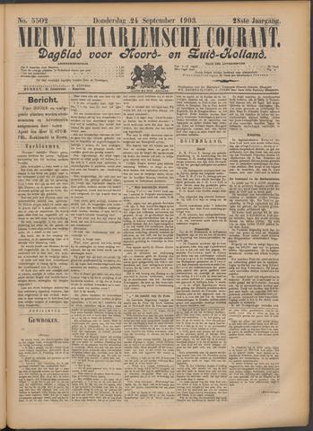 Nieuwe Haarlemsche Courant 1903-09-24