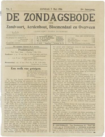 De Zondagsbode voor Zandvoort en Aerdenhout 1916-05-07