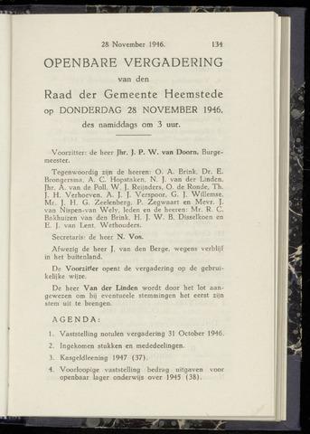 Raadsnotulen Heemstede 1946-11-28