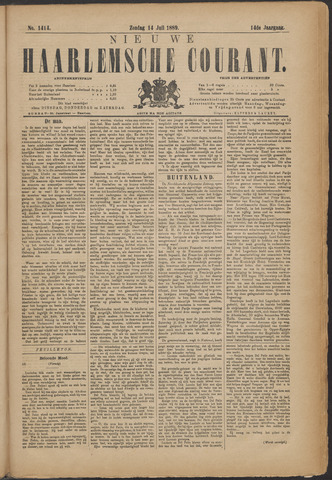 Nieuwe Haarlemsche Courant 1889-07-14