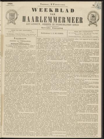 Weekblad van Haarlemmermeer 1866-02-02