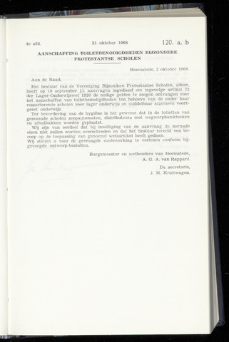 Raadsnotulen Heemstede 1968-10-31