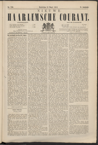 Nieuwe Haarlemsche Courant 1884-03-20