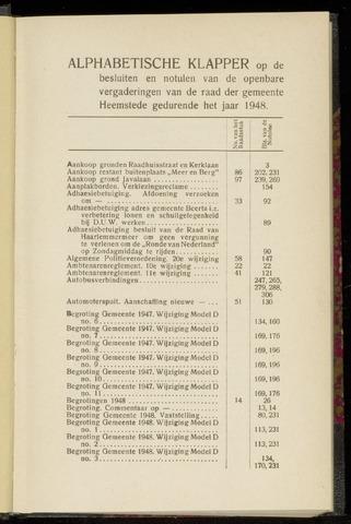 Raadsnotulen Heemstede 1948-01-01
