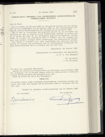 Raadsnotulen Heemstede 1957-10-31