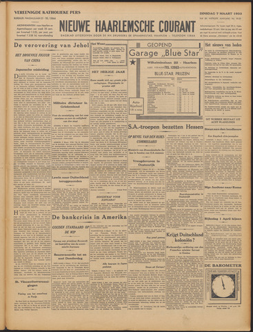 Nieuwe Haarlemsche Courant 1933-03-07