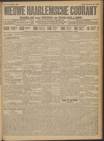 Nieuwe Haarlemsche Courant 1913-09-12