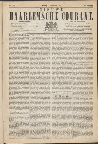 Nieuwe Haarlemsche Courant 1881-12-18