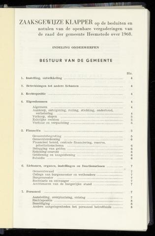 Raadsnotulen Heemstede 1968-01-01