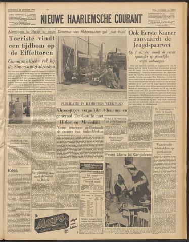 Nieuwe Haarlemsche Courant 1958-09-24