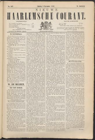 Nieuwe Haarlemsche Courant 1884-11-09