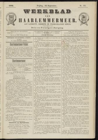 Weekblad van Haarlemmermeer 1882-09-15