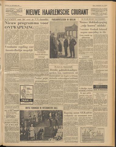 Nieuwe Haarlemsche Courant 1961-09-26