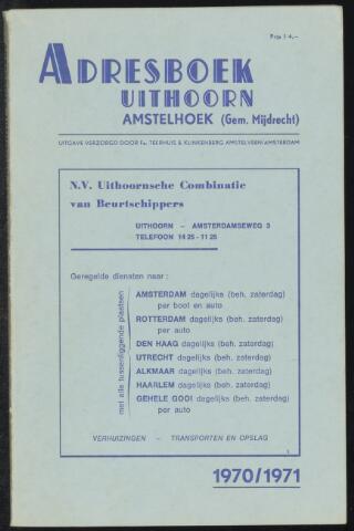 Adresboeken Uithoorn, Amstelhoek 1970