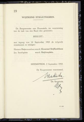 Raadsnotulen Heemstede 1943-09-02
