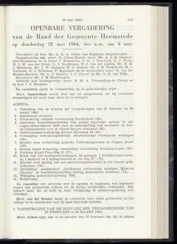 Raadsnotulen Heemstede 1964-05-28