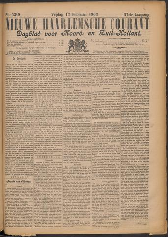 Nieuwe Haarlemsche Courant 1903-02-13