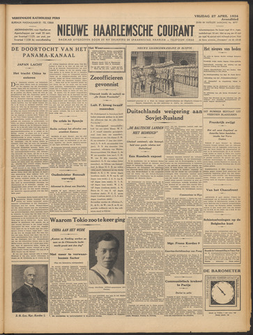 Nieuwe Haarlemsche Courant 1934-04-27
