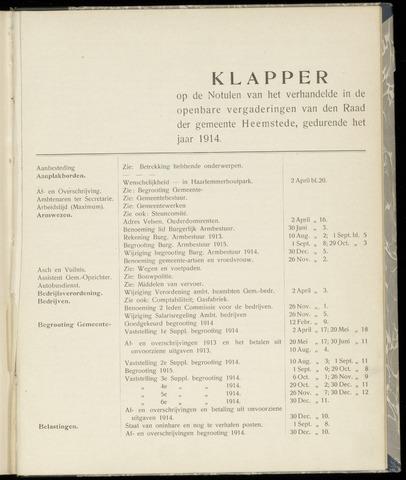 Raadsnotulen Heemstede 1914-01-01
