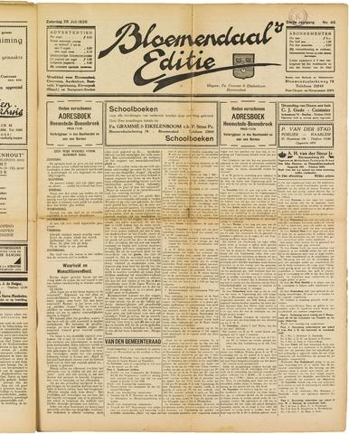 Bloemendaal's Editie 1928-07-28