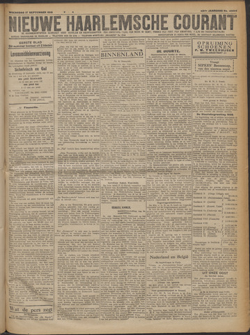 Nieuwe Haarlemsche Courant 1919-09-17