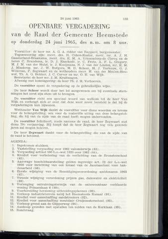 Raadsnotulen Heemstede 1965-06-24