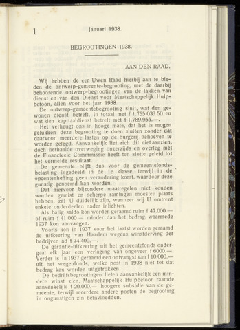 Raadsnotulen Heemstede 1938-01-25