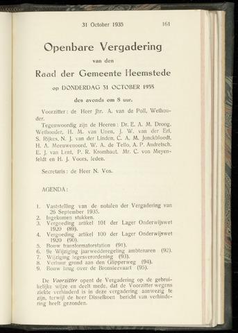 Raadsnotulen Heemstede 1935-10-31