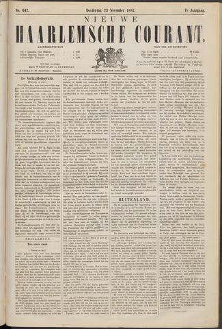 Nieuwe Haarlemsche Courant 1882-11-23