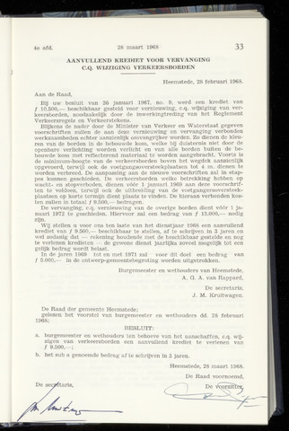 Raadsnotulen Heemstede 1968-03-28