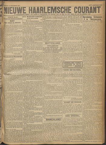 Nieuwe Haarlemsche Courant 1917-11-19