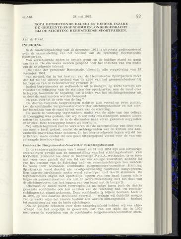 Raadsnotulen Heemstede 1962-05-24