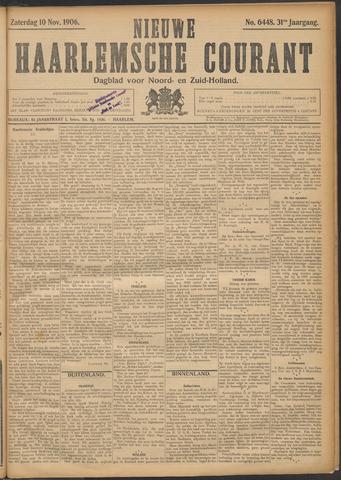 Nieuwe Haarlemsche Courant 1906-11-10