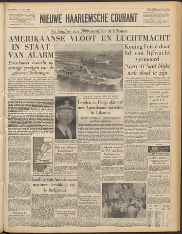 Nieuwe Haarlemsche Courant 1958-07-16