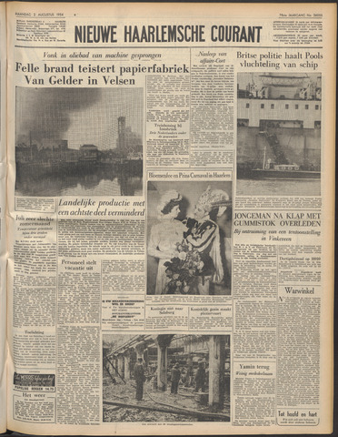 Nieuwe Haarlemsche Courant 1954-08-02