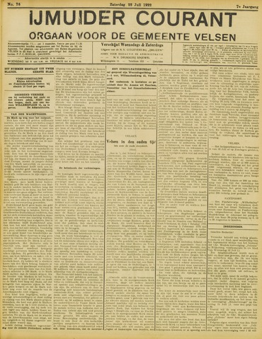 IJmuider Courant 1922-07-22