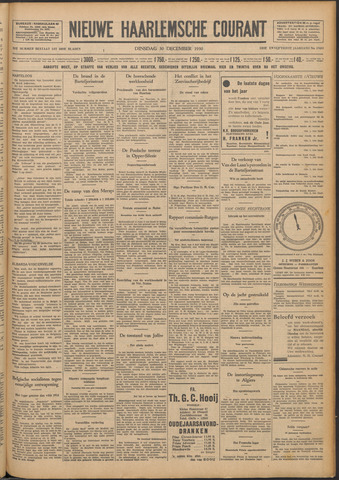 Nieuwe Haarlemsche Courant 1930-12-30
