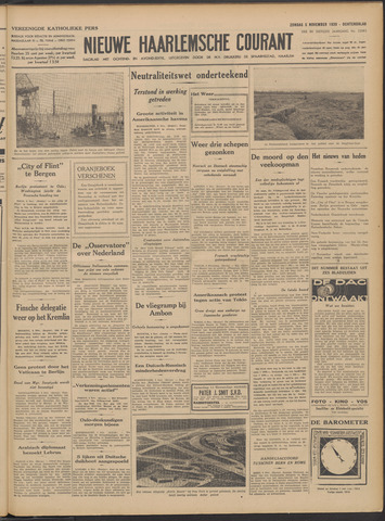 Nieuwe Haarlemsche Courant 1939-11-05