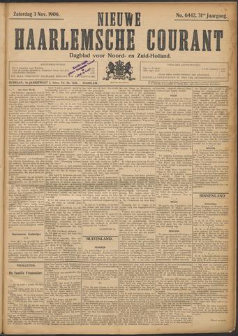 Nieuwe Haarlemsche Courant 1906-11-03