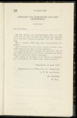 Raadsnotulen Heemstede 1930-04-24