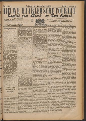 Nieuwe Haarlemsche Courant 1905-11-10