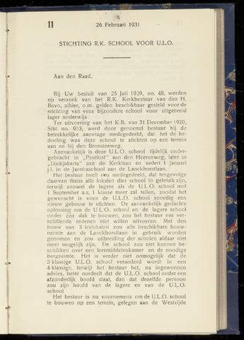 Raadsnotulen Heemstede 1931-02-26