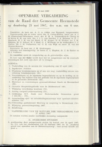 Raadsnotulen Heemstede 1967-05-25