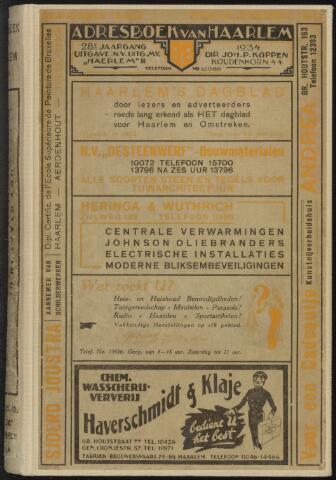 Adresboeken Haarlem 1934