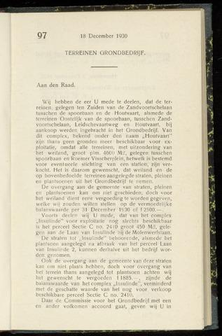 Raadsnotulen Heemstede 1930-12-18