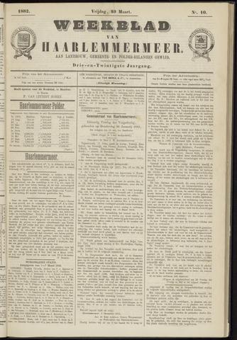 Weekblad van Haarlemmermeer 1882-03-10