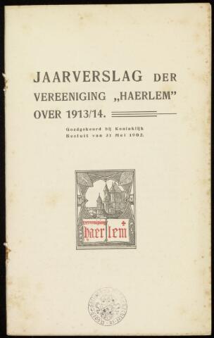 Jaarverslagen en Jaarboeken Vereniging Haerlem 1913