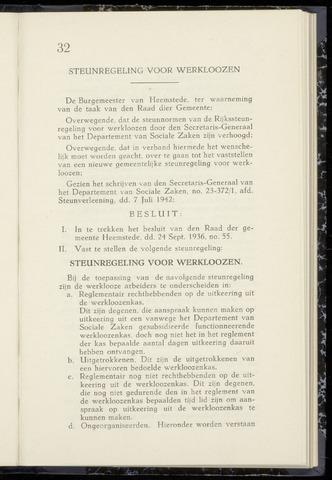 Raadsnotulen Heemstede 1942-07-31