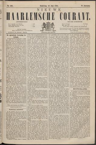 Nieuwe Haarlemsche Courant 1881-06-16