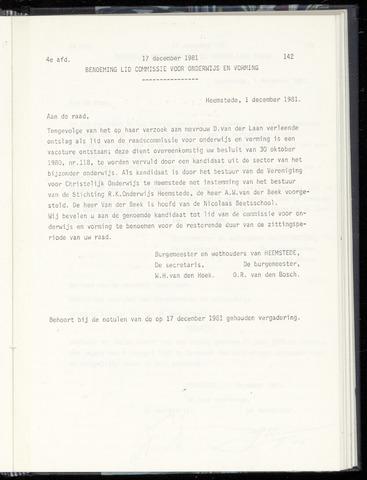 Raadsnotulen Heemstede 1981-12-17